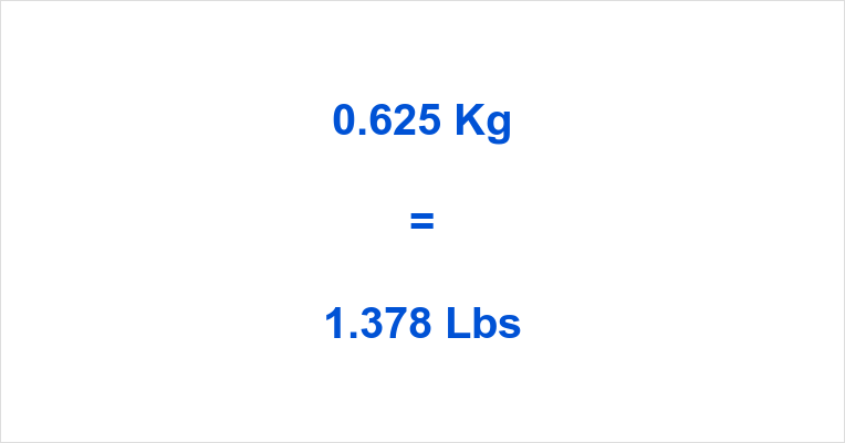 0.625 Kg to Lbs