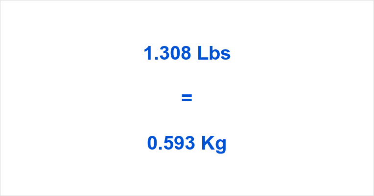 1.308 Lbs to Kg
