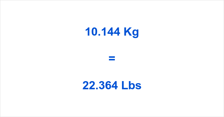 10.144 Kg to Lbs