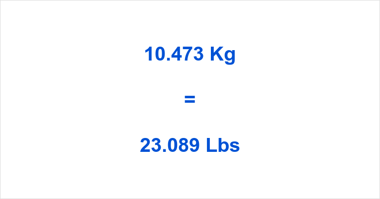 10.473 Kg to Lbs
