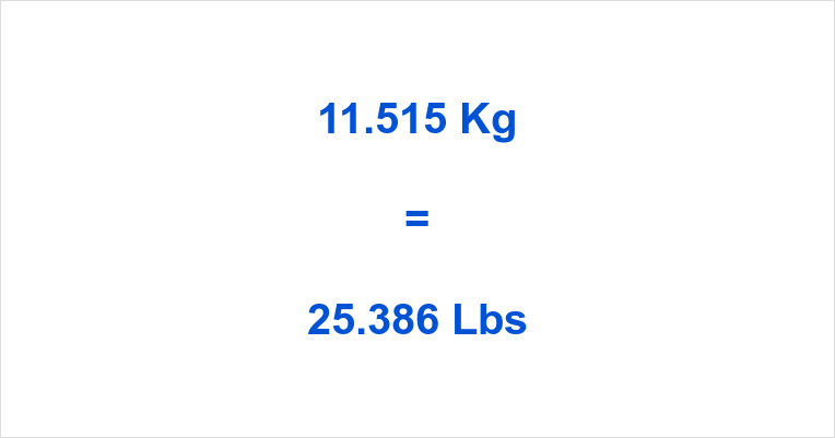 11.515 Kg to Lbs