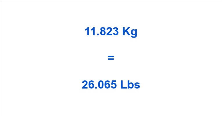 11.823 Kg to Lbs
