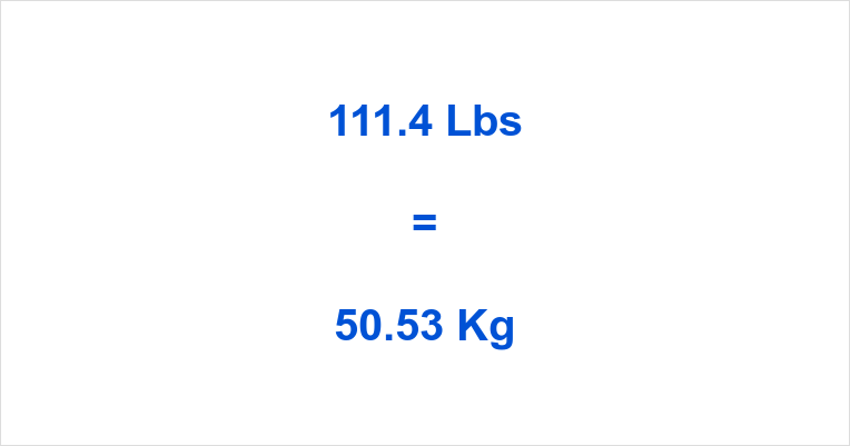 111 kg to lbs
