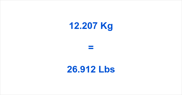 12.207 Kg to Lbs