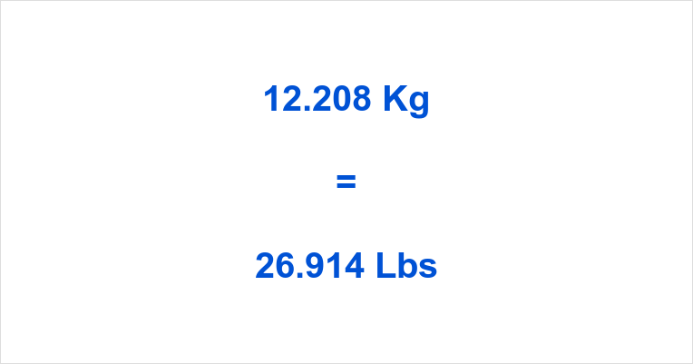 12.208 Kg to Lbs