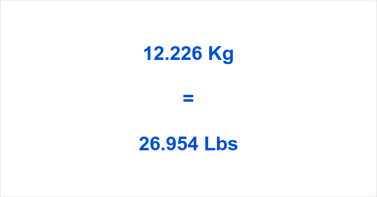 12.226 Kg to Lbs