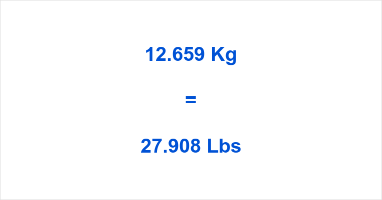 12.659 Kg to Lbs