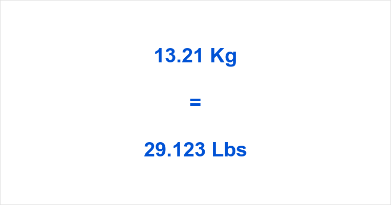 21 kg to lbs