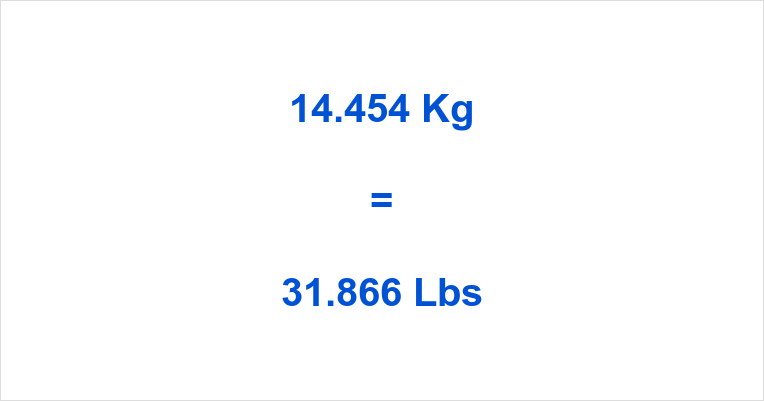 14.454 Kg to Lbs