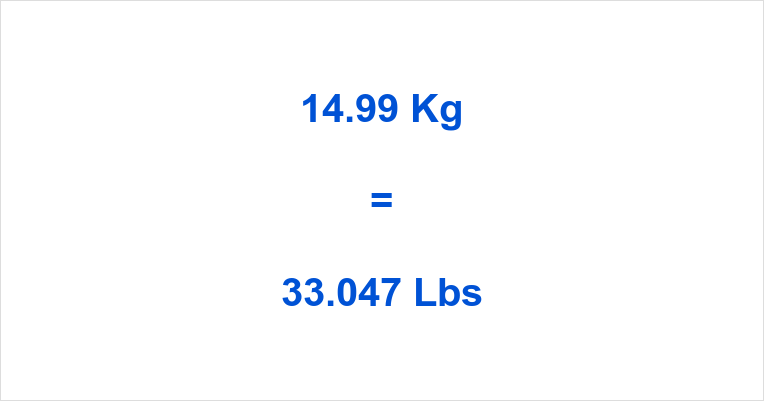 14.99 Kg to Lbs