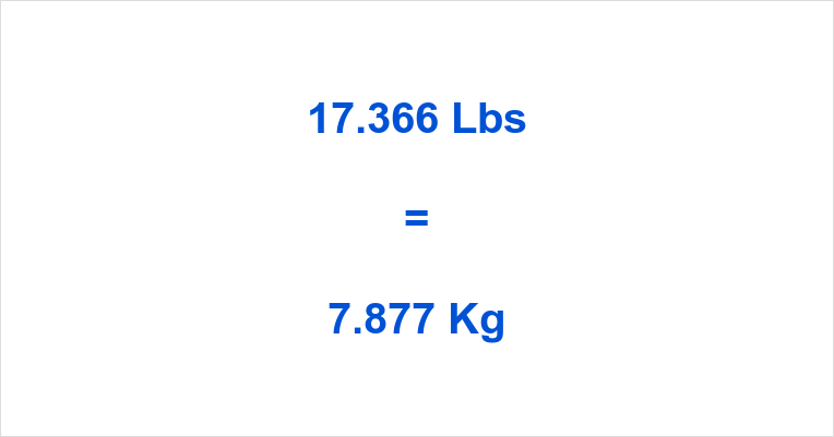 17.366 Lbs to Kg