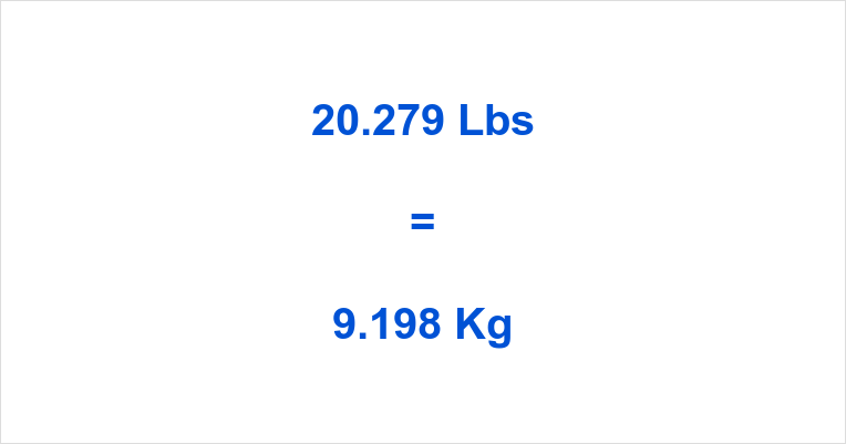 20.279 Lbs to Kg