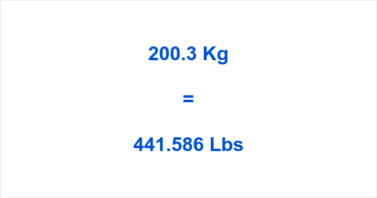 200.3 Kg to Lbs