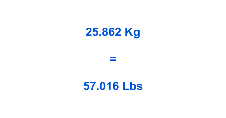 25.862 Kg to Lbs