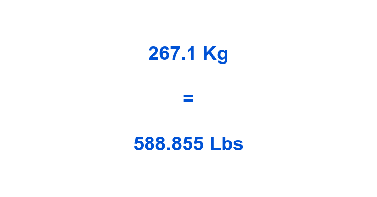 267.1 Kg to Lbs