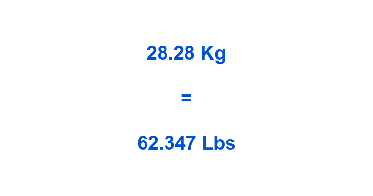 28 Kg To Lbs