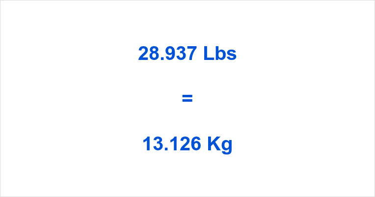 28.937 Lbs to Kg