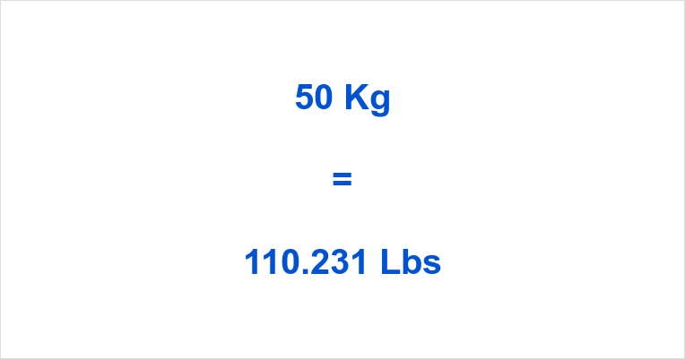 In 50 pounds kg us Convert 50
