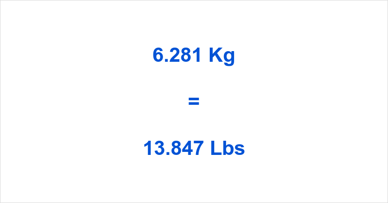 6.281 Kg to Lbs