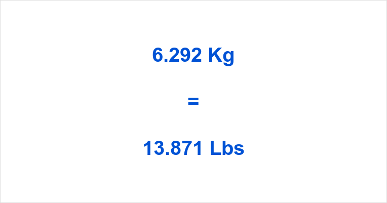 6.292 Kg to Lbs