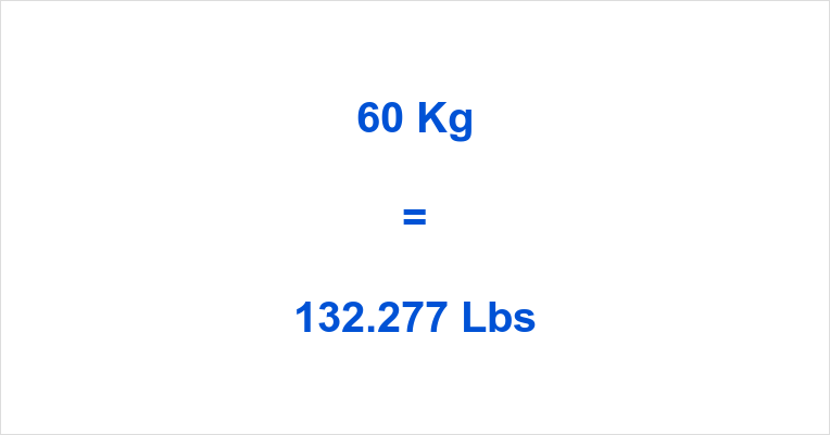60 Kg To Lbs Kilograms Pounds Kilos In