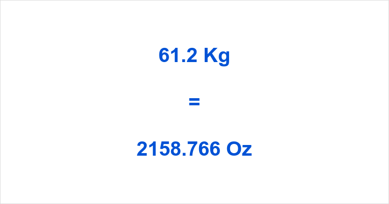 61.2 Kg to Oz