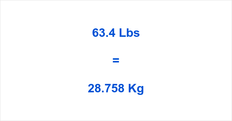 63.4 Lbs to Kg