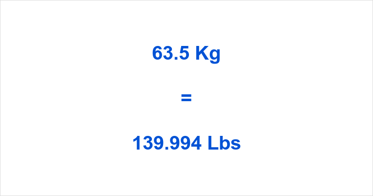 63.5 Kg to Lbs
