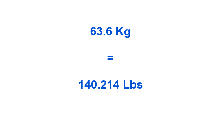 63.6 Kg to Lbs