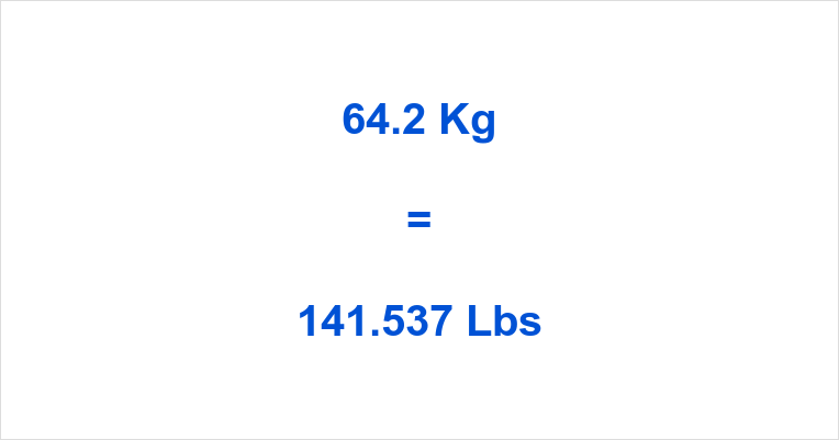 64.2 Kg to Lbs
