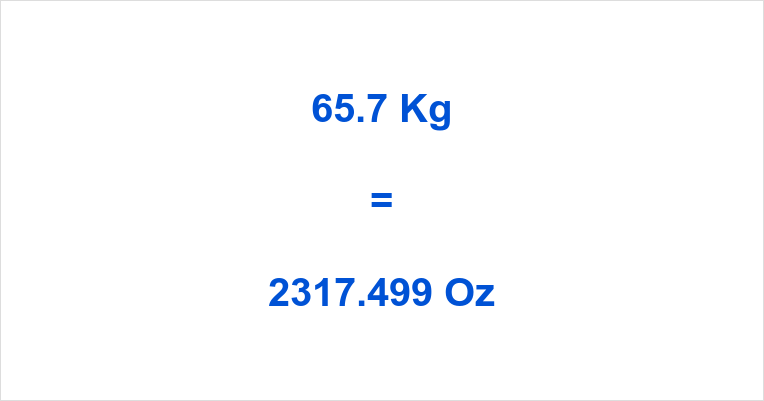 65.7 Kg to Oz