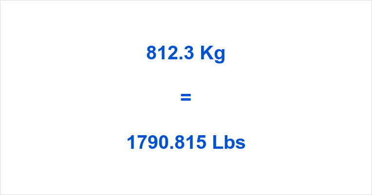 812.3 Kg to Lbs