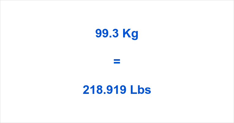 993 Kg To Lbs