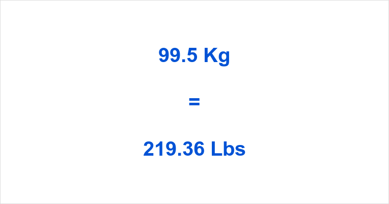995 Kg To Lbs
