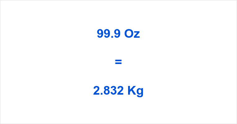 99.9 Oz to Kg